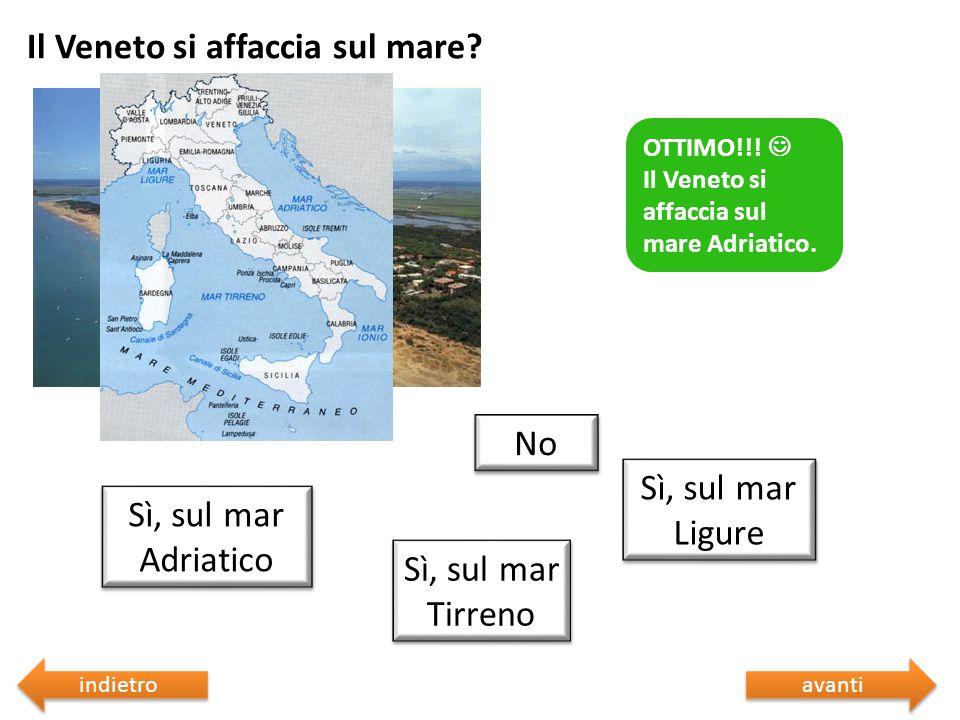 Il Veneto si affaccia sul mare