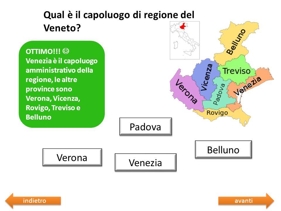 Qual è il capoluogo di regione del Veneto