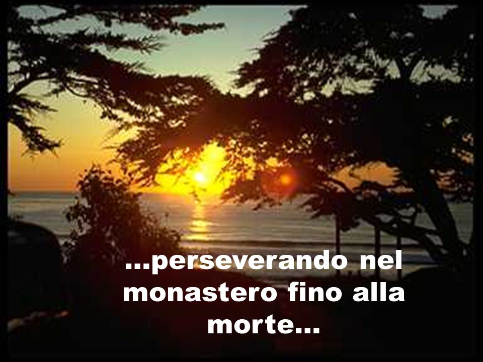 …perseverando nel monastero fino alla morte…