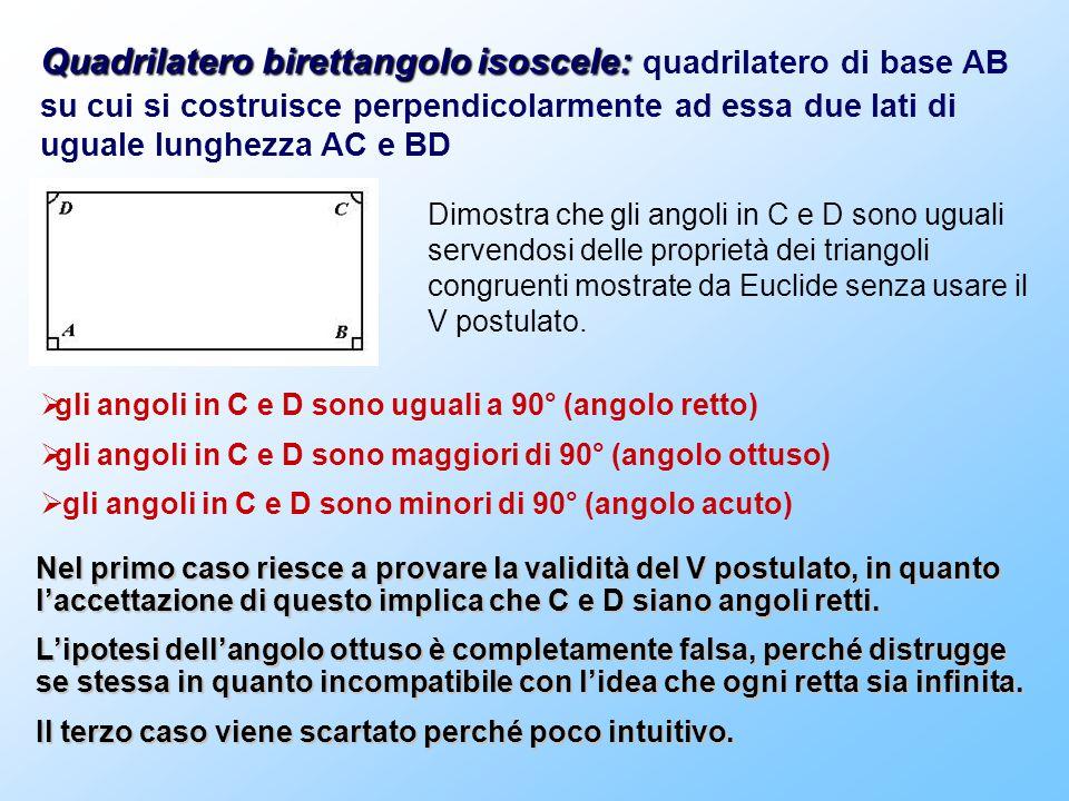 Quadrilatero birettangolo isoscele: quadrilatero di base AB su cui si costruisce perpendicolarmente ad essa due lati di uguale lunghezza AC e BD