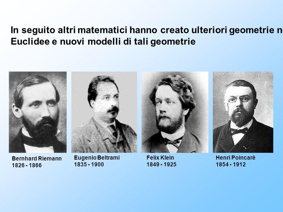 In seguito altri matematici hanno creato ulteriori geometrie non
