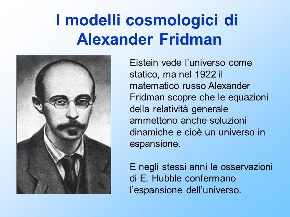 I modelli cosmologici di