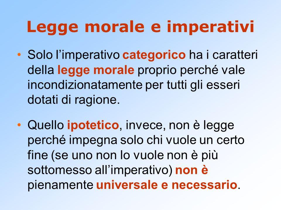 Legge morale e imperativi