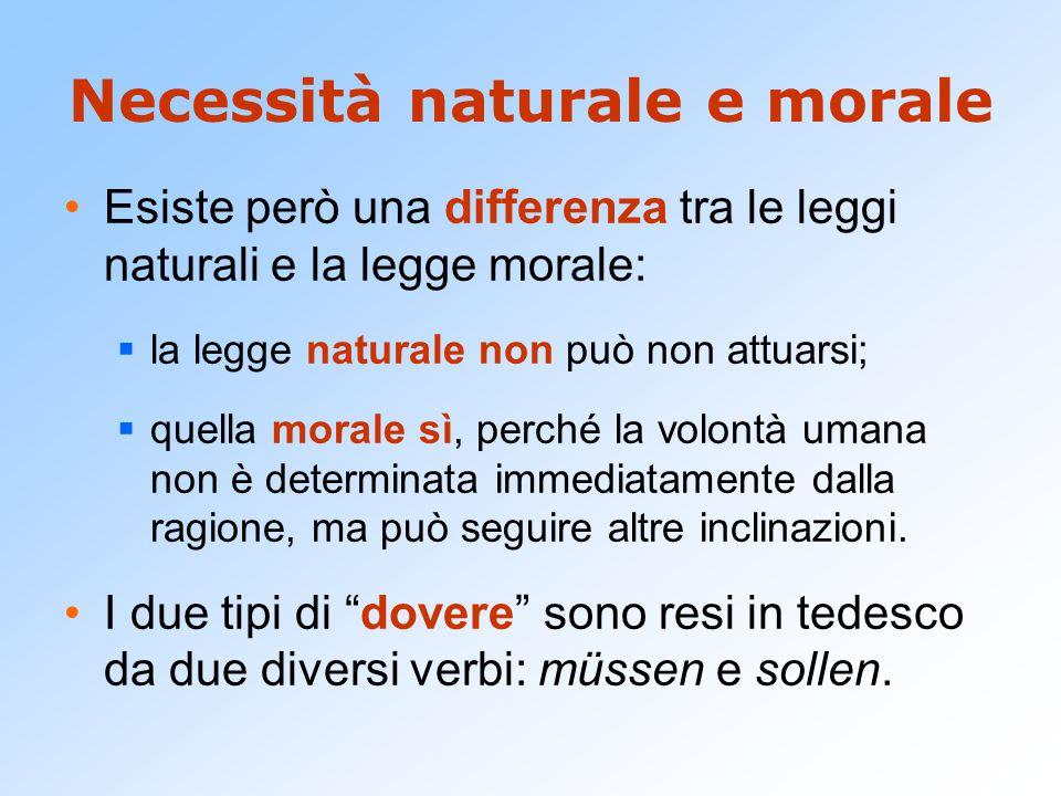Necessità naturale e morale
