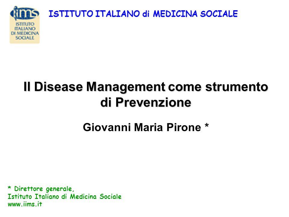 Il Disease Management come strumento di Prevenzione