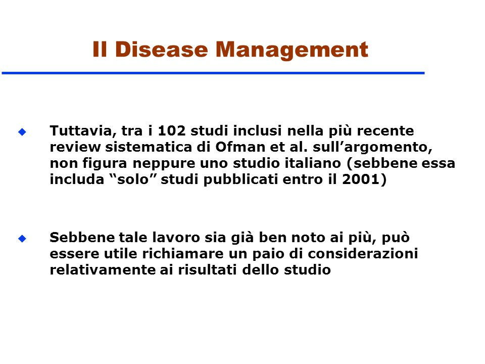 Il Disease Management