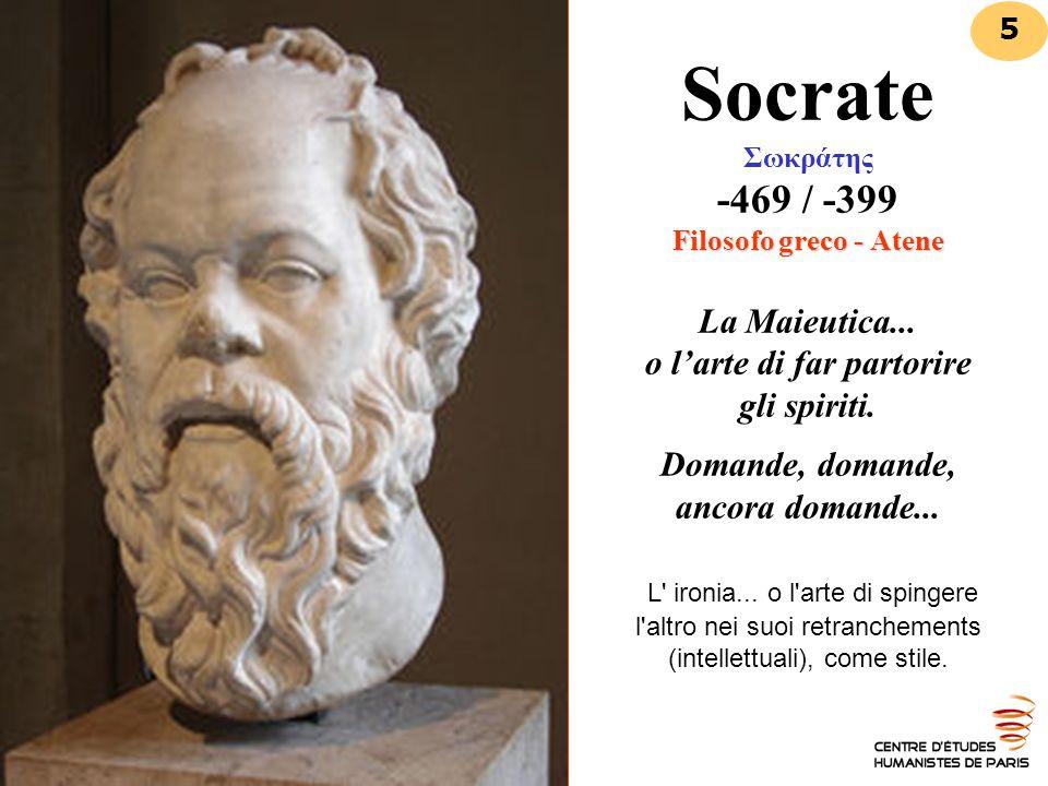 Socrate Σωκράτης -469 / -399 Filosofo greco - Atene La Maieutica