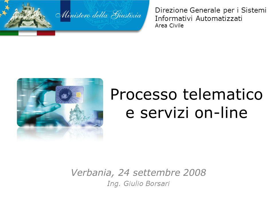 Processo telematico e servizi on-line