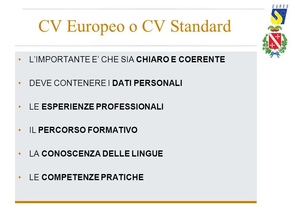 CV Europeo o CV Standard