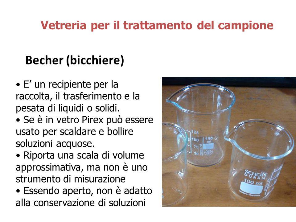Becher (bicchiere) Vetreria per il trattamento del campione