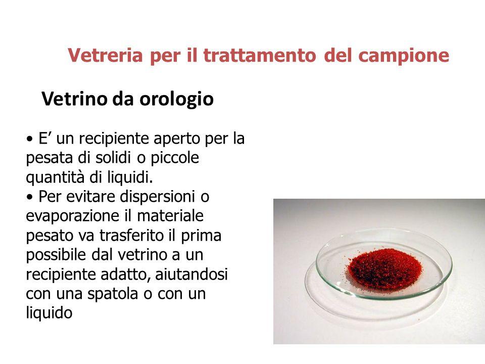 Vetrino da orologio Vetreria per il trattamento del campione