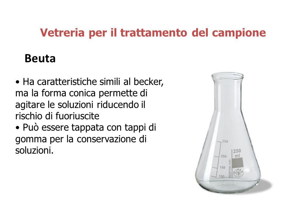 Beuta Vetreria per il trattamento del campione