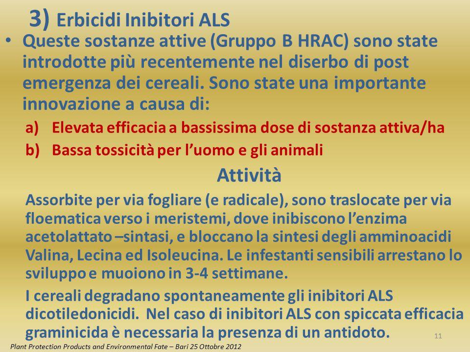 3) Erbicidi Inibitori ALS