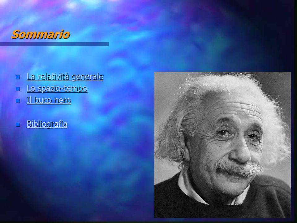 Sommario La relatività generale Lo spazio-tempo Il buco nero
