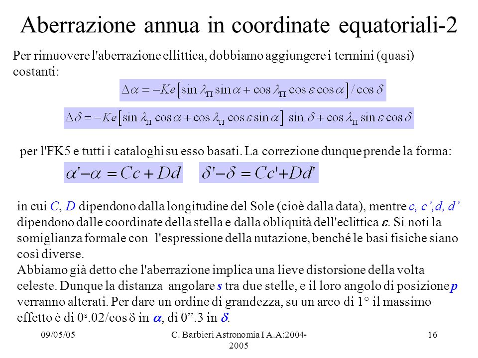 Aberrazione annua in coordinate equatoriali-2