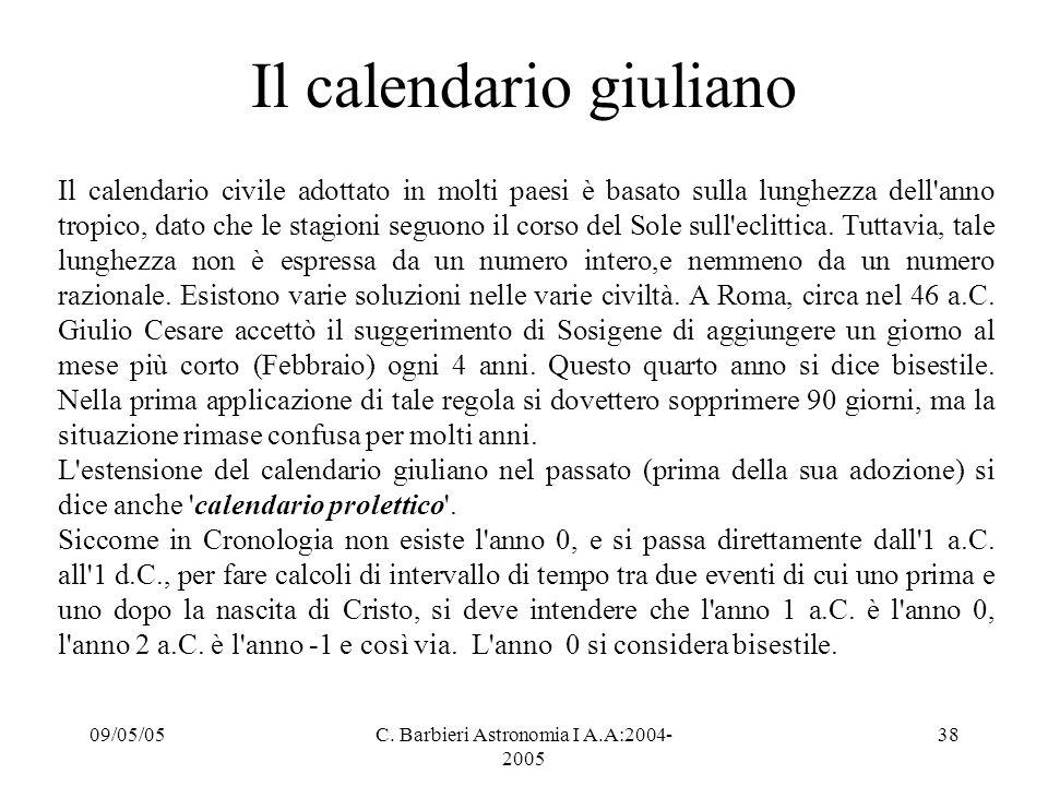 Il calendario giuliano