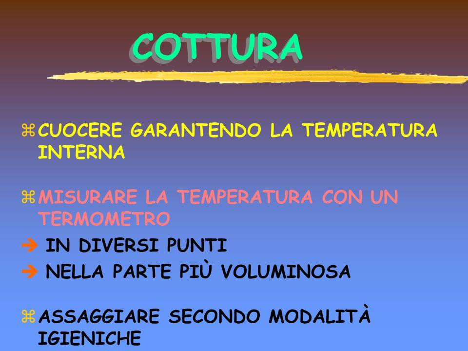 COTTURA CUOCERE GARANTENDO LA TEMPERATURA INTERNA
