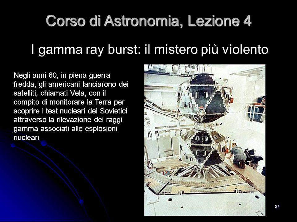 Corso di Astronomia, Lezione 4