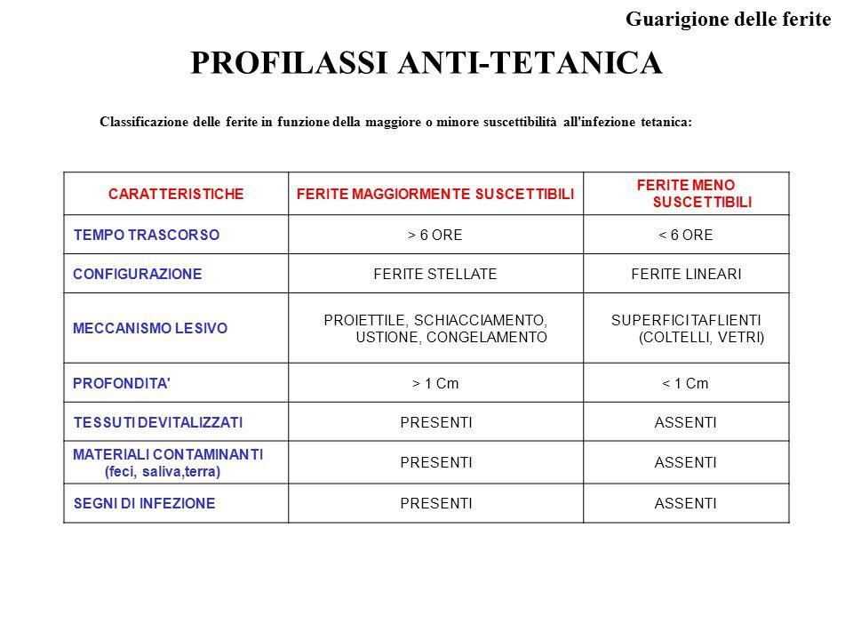 PROFILASSI ANTI-TETANICA