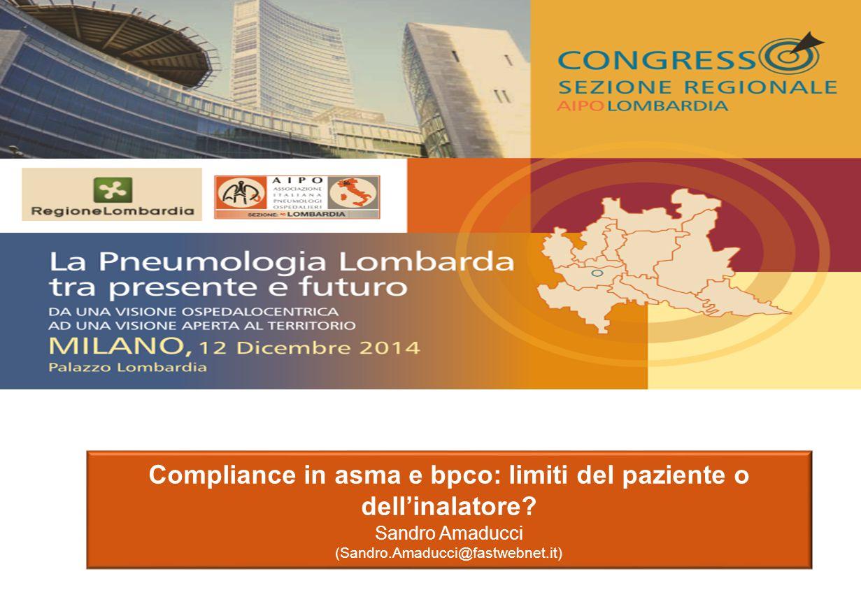 Compliance in asma e bpco: limiti del paziente o dell'inalatore