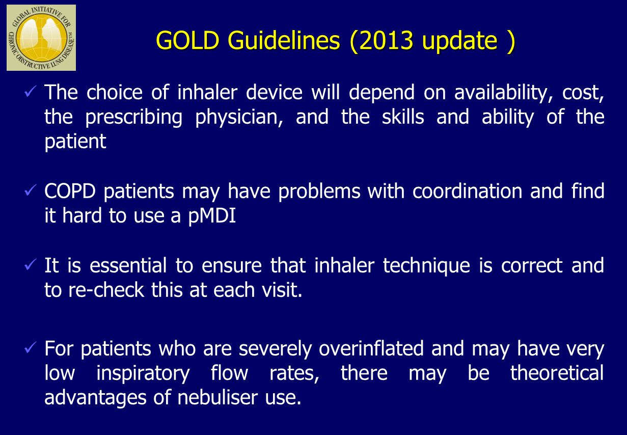 GOLD Guidelines (2013 update )