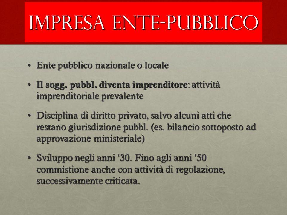 IMPRESA ENTE-PUBBLICO