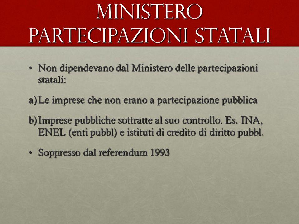 Ministero partecipazioni statali