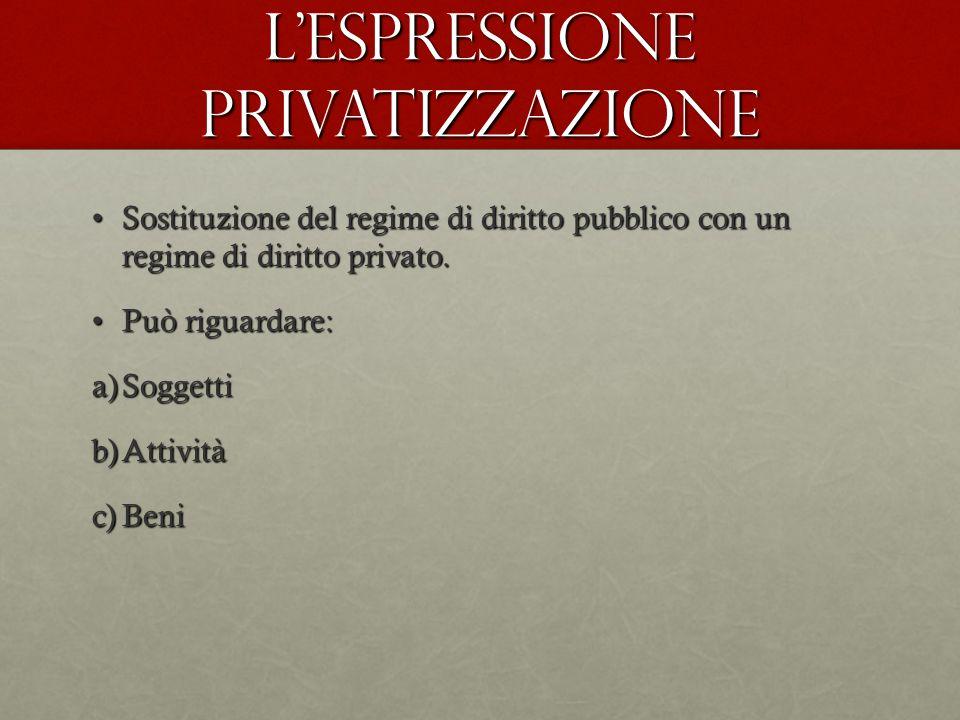 L'espressione privatizzazione