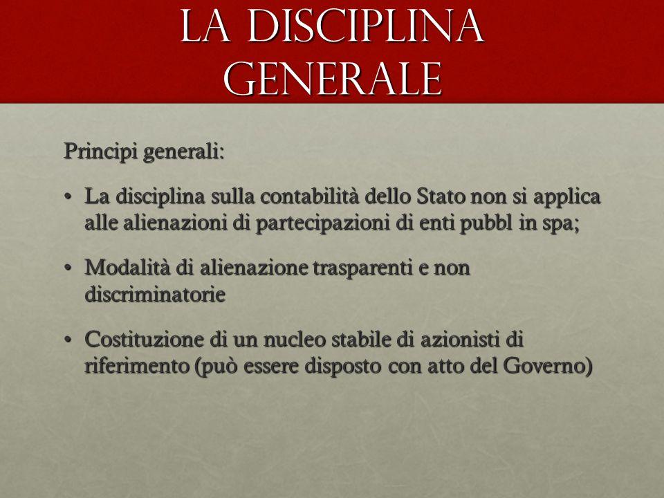 La disciplina generale