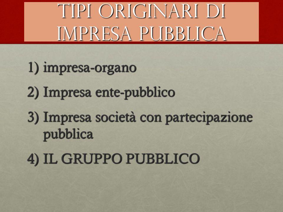 Tipi originari di impresa pubblica