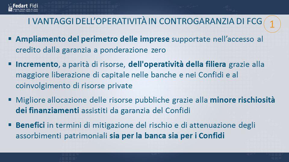I VANTAGGI DELL'OPERATIVITÀ IN CONTROGARANZIA DI FCG