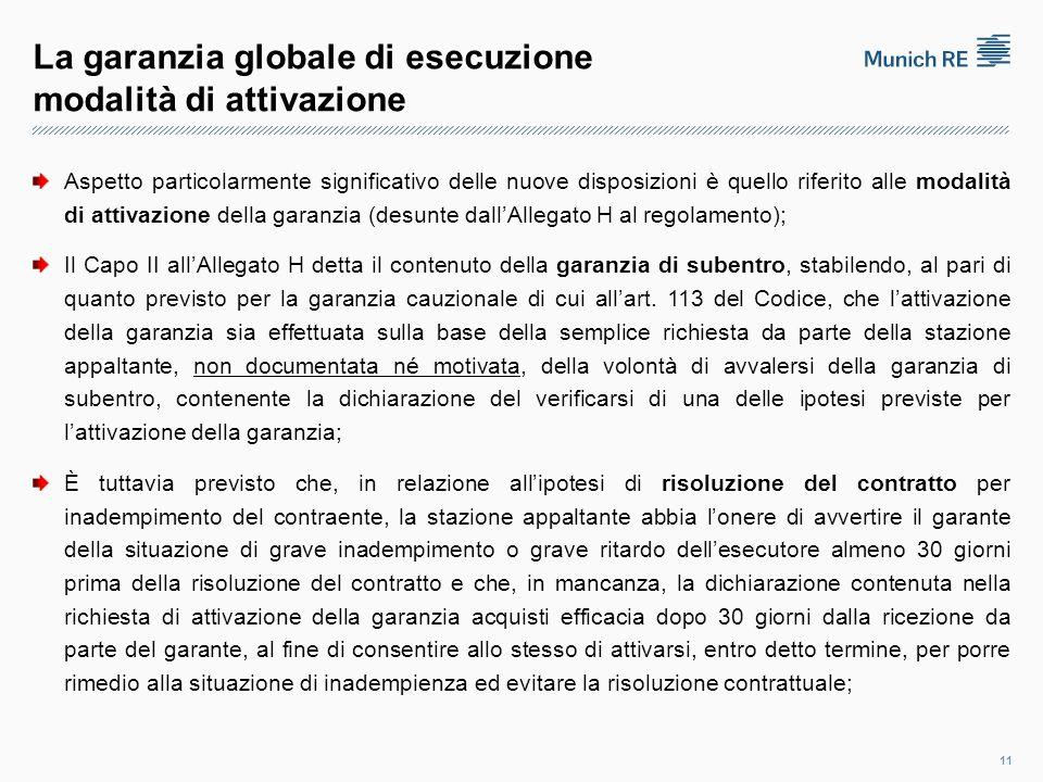 La garanzia globale di esecuzione modalità di attivazione