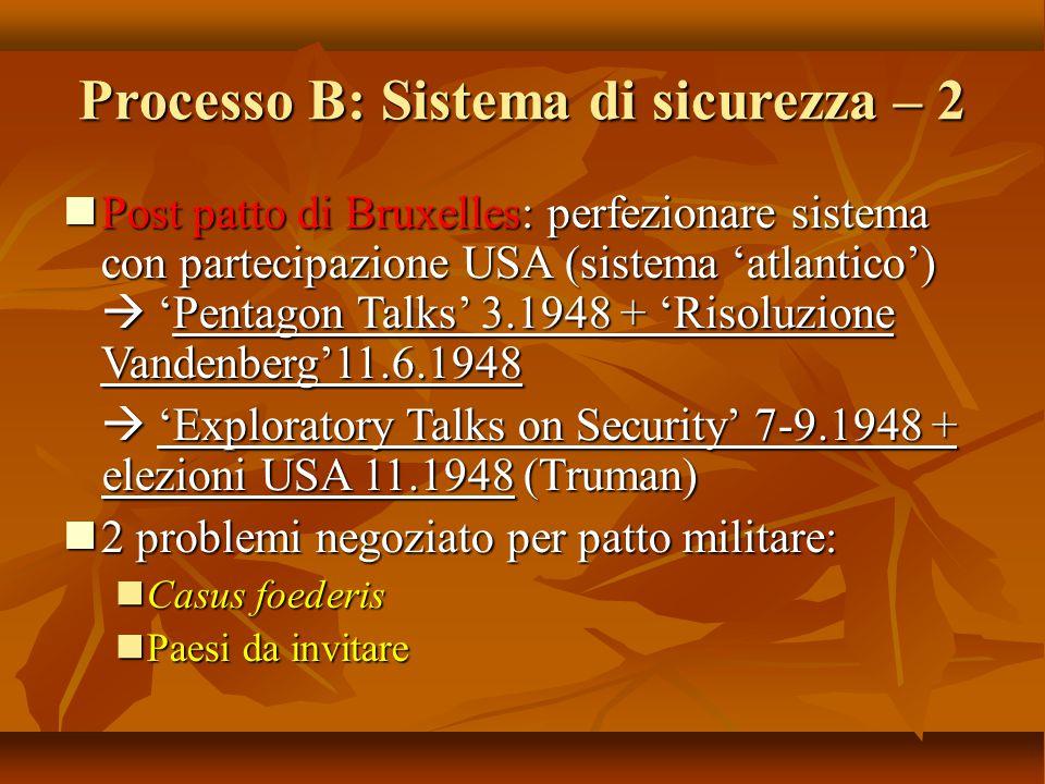 Processo B: Sistema di sicurezza – 2