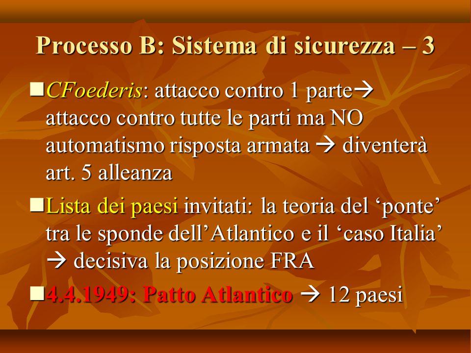 Processo B: Sistema di sicurezza – 3