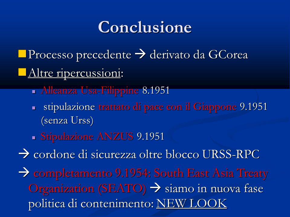 Conclusione Processo precedente  derivato da GCorea