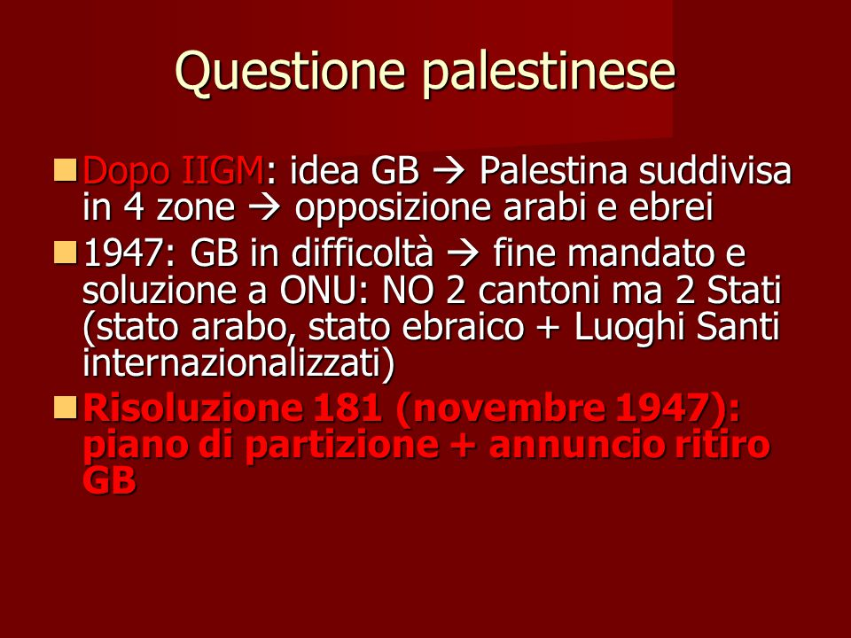 Questione palestinese