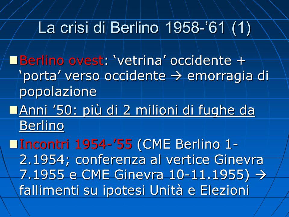 La crisi di Berlino 1958-'61 (1)