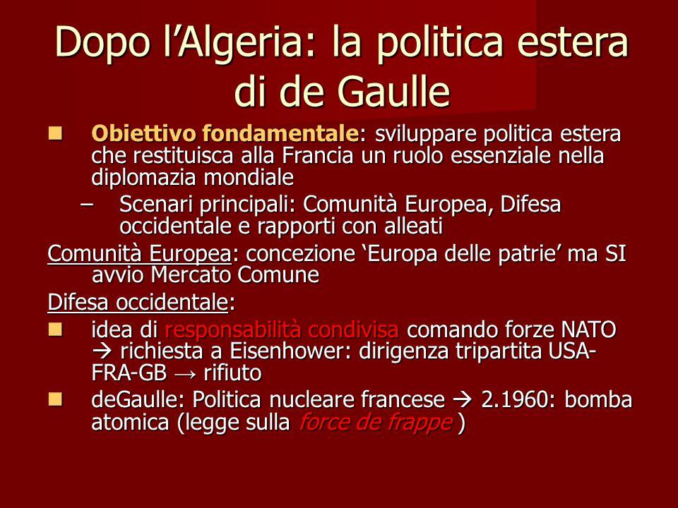 Dopo l'Algeria: la politica estera di de Gaulle
