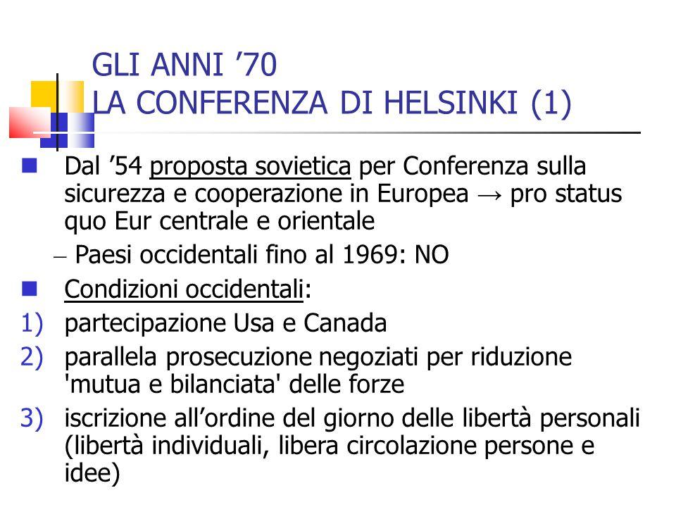 GLI ANNI '70 LA CONFERENZA DI HELSINKI (1)