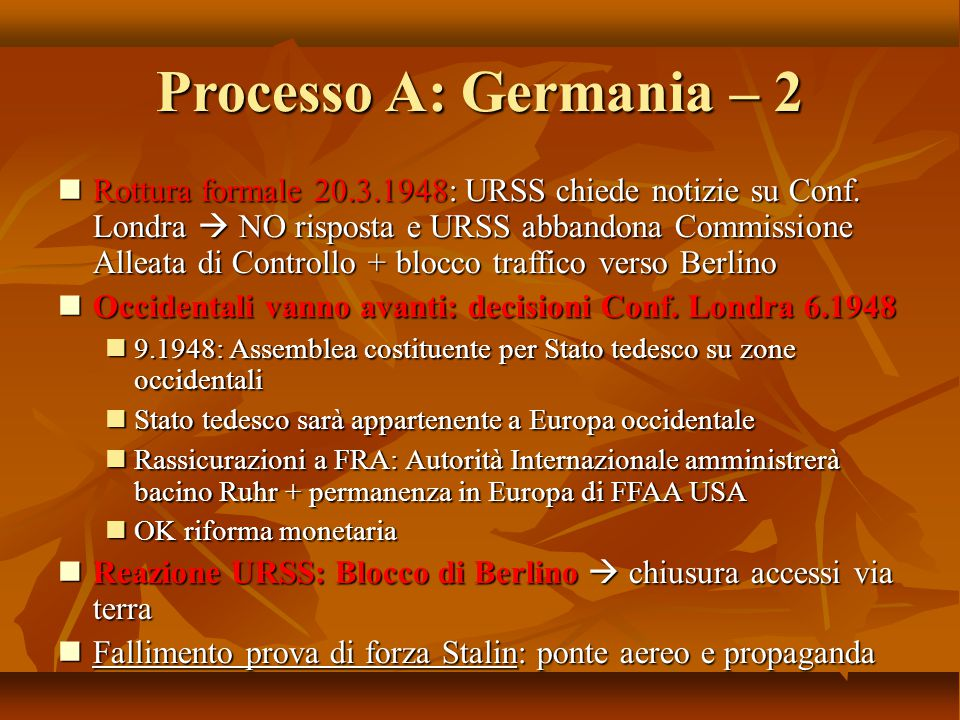 Processo A: Germania – 2