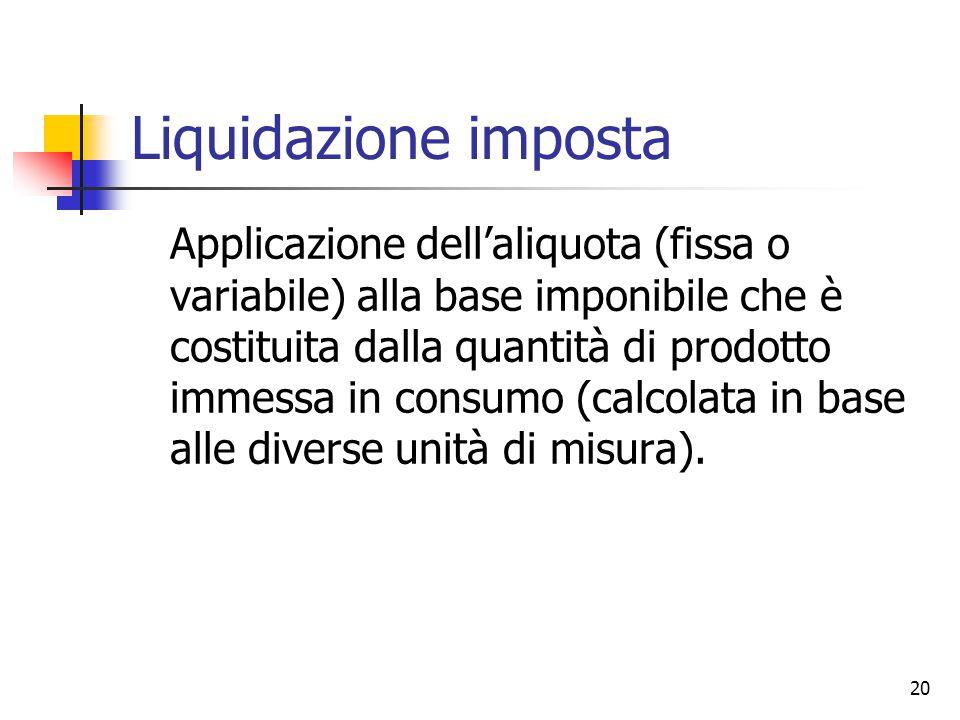 Liquidazione imposta