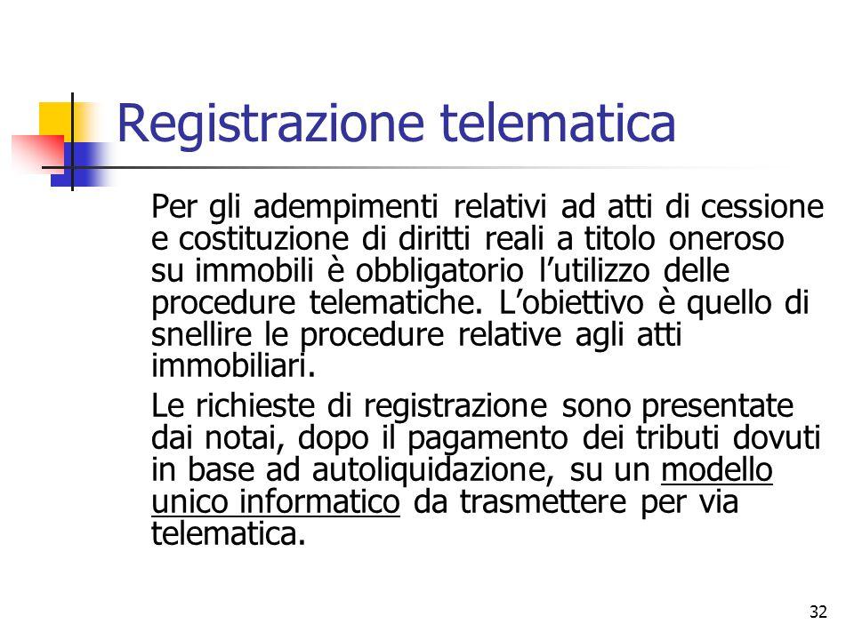 Registrazione telematica