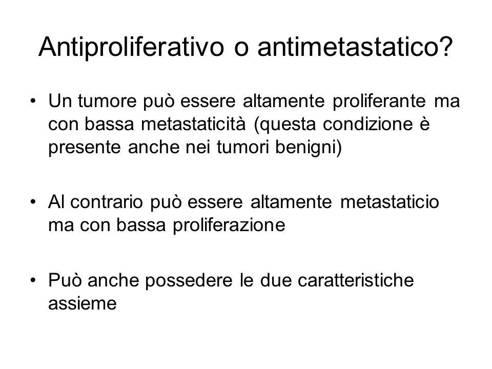 Antiproliferativo o antimetastatico