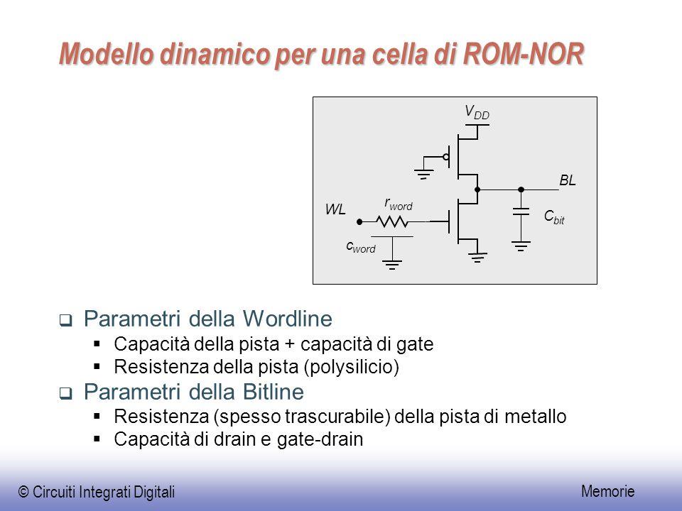 Modello dinamico per una cella di ROM-NOR