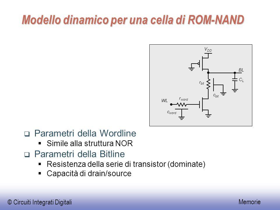 Modello dinamico per una cella di ROM-NAND