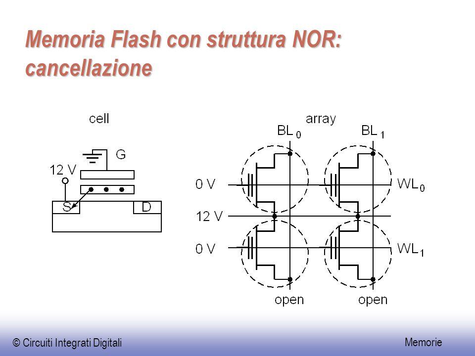 Memoria Flash con struttura NOR: cancellazione