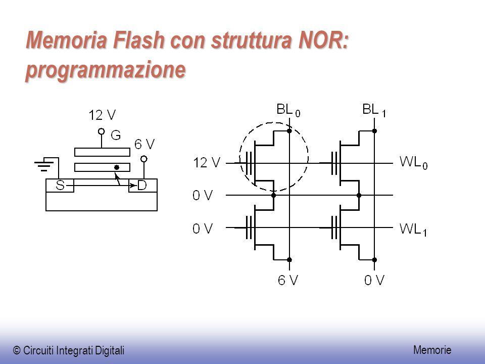 Memoria Flash con struttura NOR: programmazione