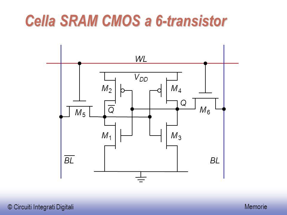 Cella SRAM CMOS a 6-transistor