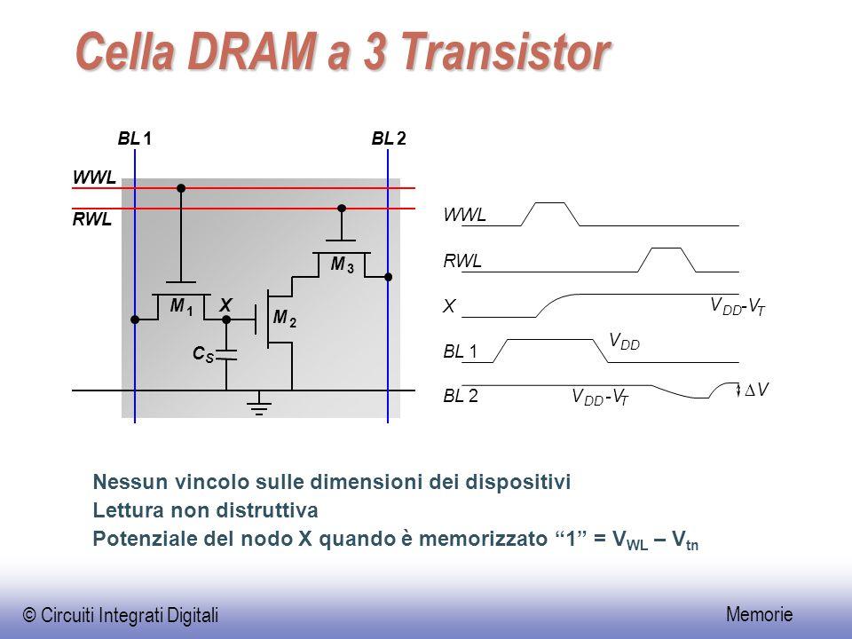 Cella DRAM a 3 Transistor