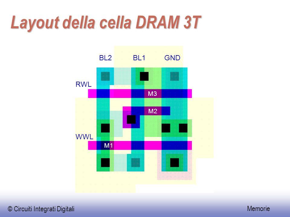 Layout della cella DRAM 3T